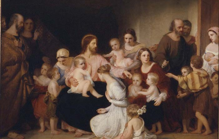 Christ Blessing Little Children, by Charles Lock Eastlake, c. 1839. Manchester Art Gallery, Manchester, United Kingdom. Via IllustratedPrayer.com