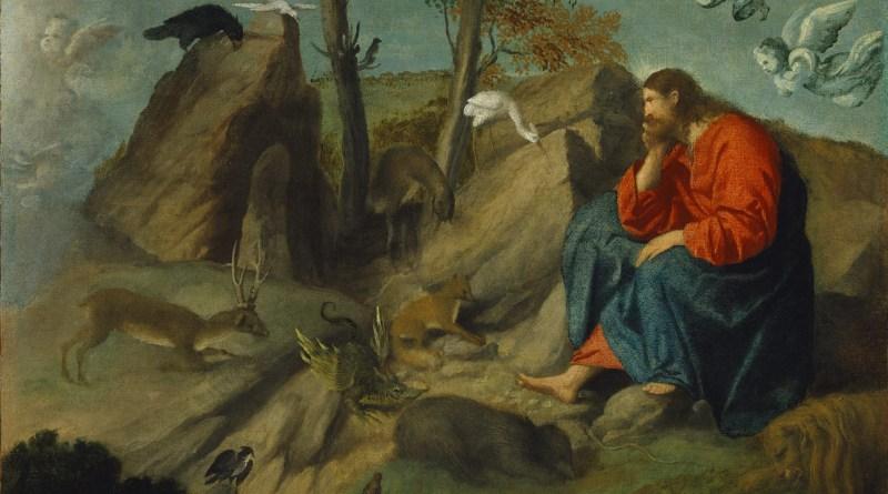 Christ in the Wilderness, by Moretto da Brescia, c. 1515-20. Metropolitan Museum of Art, New York, New York, United States. Via IllustratedPrayer.com