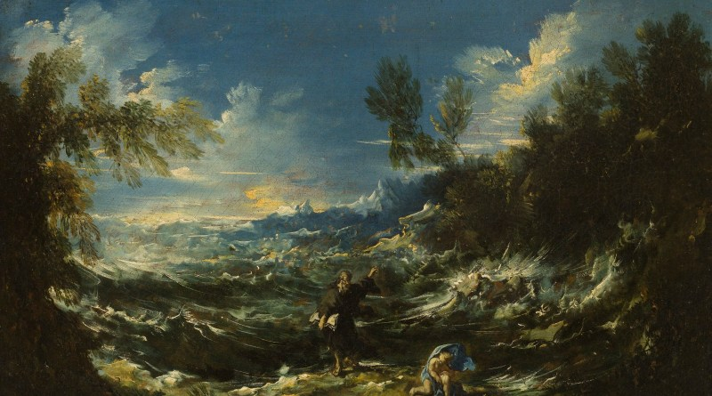 St. Augustine at the Seashore, by Alessandro Magnasco, c. 1740. Cincinnati Art Museum, Cicinnati, Ohio, United States. Via IllustratedPrayer.com
