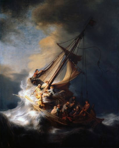 The Storm on the Sea of Galilee, by Rembrandt van Rijn, c. 1633. Whereabouts unknown since the Isabella Stewart Gardner Museum theft in 1990.