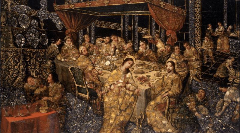 The Wedding at Cana, by Nicolás Correa, c. 1693. The Hispanic Society of America, New York, New York, United States. Via IllustratedPrayer.com