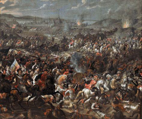 Battle of Vienna, by Pauwel Casteels, c. 1683-85. Museum of King Jan III's Palace at Wilanów, Warsaw, Poland. Via IllustratedPrayer.com