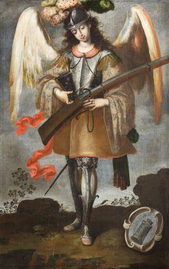 Archangel St. Michael, c. 18th century. Parroquia de Santa María la Mayor, Ezcaray, La Rioja, Spain.