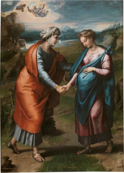 The Visitation, by Raphael and Workshop, c. 1617. Museo del Prado, Madrid, Spain.