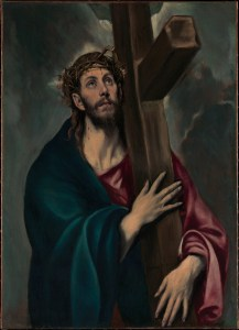 Christ Carrying the Cross, by El Greco, c. 1577–87. The Metropolitan Museum of Art, New York, New York, United States. Via IllustratedPrayer.com