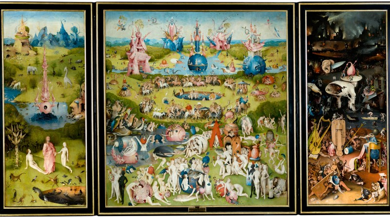 The Garden of Earthly Delights, by Hieronymus Bosch, c. 1490-1510. Museo del Prado, Madrid, Spain. Via IllustratedPrayer.com