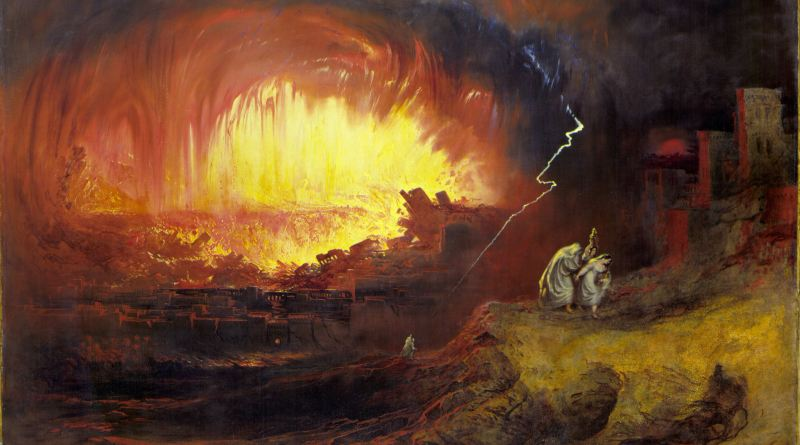 The Destruction of Sodom and Gomorrah, by John Martin, c. 1852. Laing Art Gallery, Newcastle upon Tyne, United Kingdom. Via IllustratedPrayer.com
