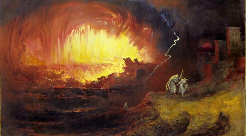 The Destruction of Sodom and Gomorrah, by John Martin, c. 1852. Laing Art Gallery, Newcastle upon Tyne, United Kingdom. Via IllustratedPrayer.com