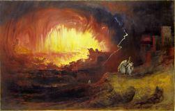 The Destruction of Sodom and Gomorrah, by John Martin, c. 1852. Laing Art Gallery, Newcastle upon Tyne, United Kingdom.