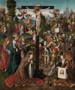 The Crucifixion, by Jacob Cornelisz van Oostsanen, c. 1507-10. Rijksmuseum, Amsterdam, Netherlands. Via IllustratedPrayer.com