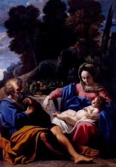 The Holy Family, by Sisto Badalocchio, c. 1610. Wadsworth Atheneum, Hartford, Connecticut, United States.
