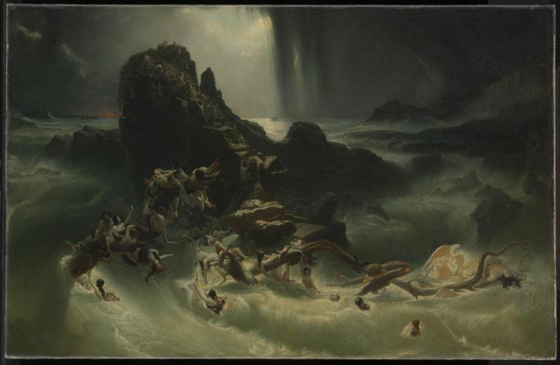 The Deluge, by Francis Danby, c. 1840. Tate Museum, London, United Kingdom. Via IllustratedPrayer.com