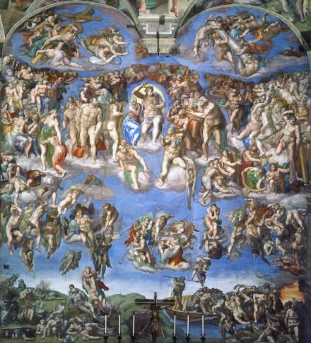 The Last Judgment, by Michelangelo, c. 1536-41. Sistine Chapel, Vatican, Rome, Italy. Via IllustratedPrayer.com