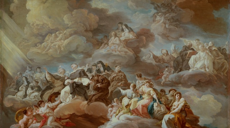 The Paradise, by Corrado Giaquinto, c. 1754-57. Museo del Prado, Madrid, Spain. Via IllustratedPrayer.com