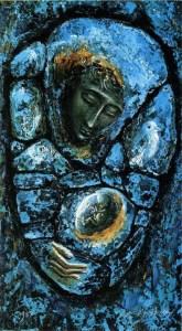 Mary Mother of God, by Michael Felix Gilfedder, c. 1980s. Copyright to Michael Felix Gilfedder. Used with permission.