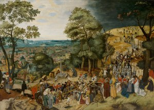 The Procession to Calvary, by Pieter Brueghel the Younger, c. 1602. Nostell Priory, West Yorkshire, United Kingdom. Via IllustratedPrayer.com