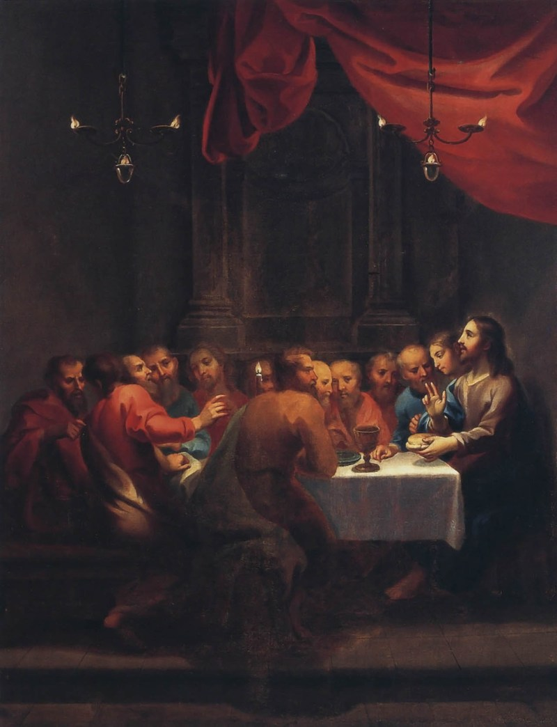The Last Supper, c. 18th century. Museo Nacional de Arte, Ciudad de México, México. Via IllustratedPrayer.com