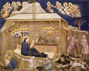 Nativity, by Giotto di Bondone, c. 1310. Lower Basilica of St. Francis of Assisi, Assisi, Italy. Via IllustratedPrayer.com