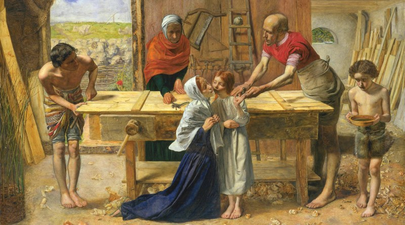 Christ in the House of His Parents, by John Everett Millais, c. 1849-50. Tate Britain, London, England. Via IllustratedPrayer.com