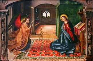The Annunciation, by Pedro Berruguete, c. 14th century. Miraflores Charterhouse, Burgos, Spain. Via IllustratedPrayer.com