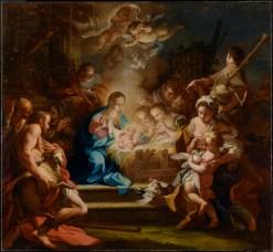 The Adoration of the Shepherds, by Sebastiano Conca, c. 1720. J. Paul Getty Museum, Los Angeles, California, United States. Via IllustratedPrayer.com