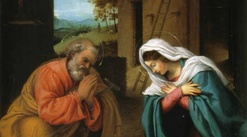 Nativity of Christ, by Lorenzo Lotto, c. 1523. National Gallery of Art, Washington, D.C., United States. Via IllustratedPrayer.com