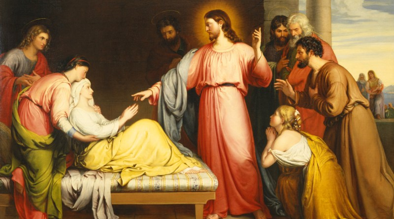 Christ Healing the Mother of Simon Peter's Wife, by John Bridges, c. 1839. Birmingham Museum of Art, Birmingham, Alabama, United States. Via IllustratedPrayer.com