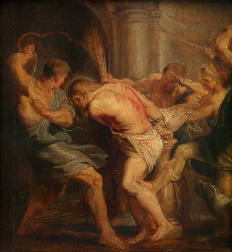 Flagellation of Christ, by Peter Paul Rubens, c. 1617. Museum of Fine Arts, Ghent, Belgium. Via IllustratedPrayer.com