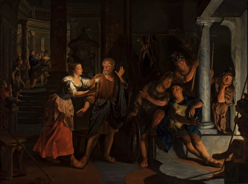 The Denial of St. Peter, by Nikolaas Verkolje, 17th century. National Museum in Warsaw, Warsaw, Poland. Via IllustratedPrayer.com