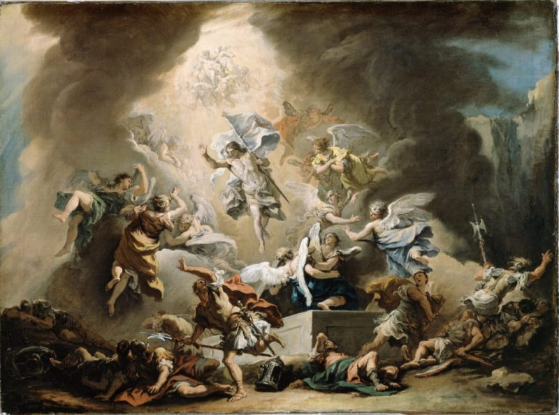 The Resurrection, by Sebastiano Ricci, c. 1715-16. Dulwich Picture Gallery, London, United Kingdom. Via IllustratedPrayer.com