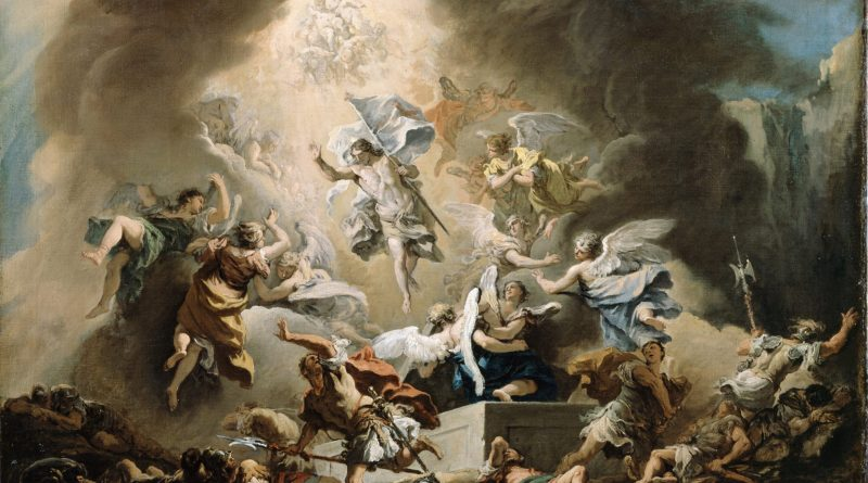 The Resurrection, by Sebastiano Ricci, c. 1715-16. Dulwich Picture Gallery, London, United Kingdom. IllustratedPrayer.com