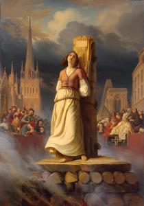 Joan of Arc's Death at the Stake (Right-Hand Part of ''The Life of Joan of Arc'' Triptych), by Hermann Anton Stilke, c. 1843. State Hermitage Museum, St. Petersburg, Russia. Via IllustratedPrayer.com