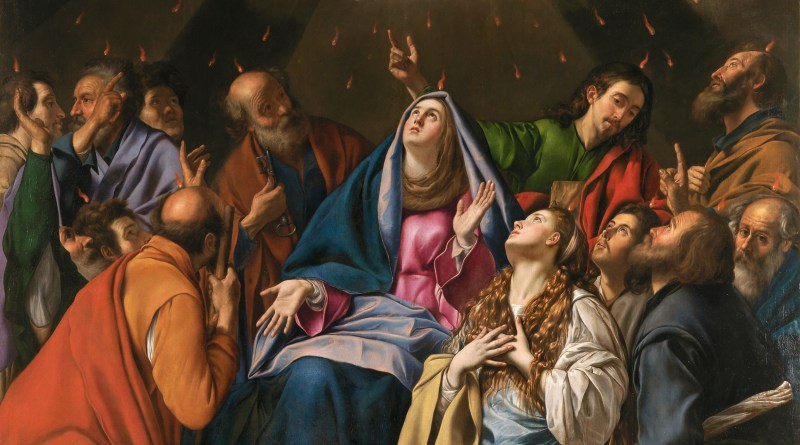 Pentecost, by Fray Juan Bautista Maíno, c. 1615-20. Museo del Prado, Madrid, Spain. Via IllustratedPrayer.com