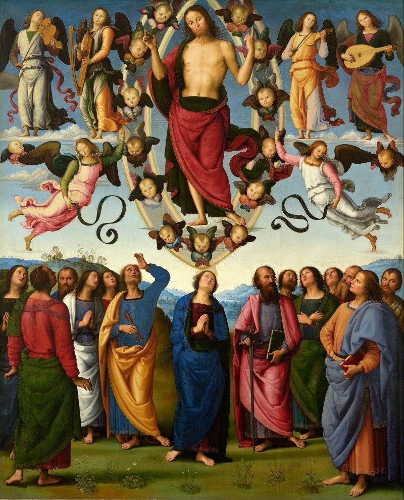 The Ascension, by Pietro Perugino, c. 1495-98. Museum of Fine Arts of Lyon, Lyon, France. Via IllustratedPrayer.com