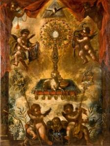 Allegory of the Eucharist, c. 1676-1725. Museo Cerralbo, Madrid, Spain. Via IllustratedPrayer.com