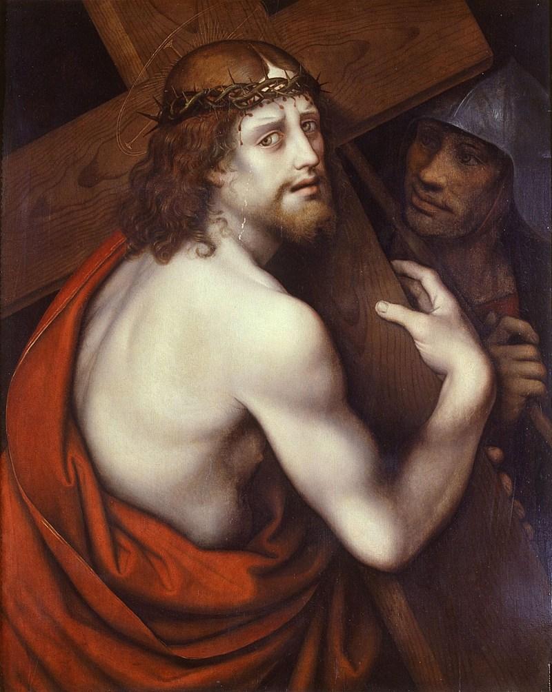 Christ Carrying the Cross, by Giovan Pietro Rizzoli detto il Giampietrino, c. 1530s. Museo Diocesano Milano, Milan, Italy. Via IllustratedPrayer.com