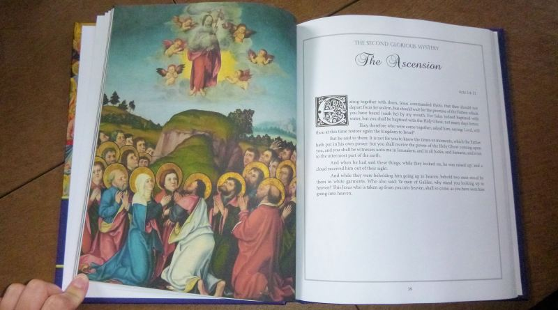 A look at the final Ascension picture from The Glorious Mysteries, by Karina Tabone. Via IllustratedPrayer.com