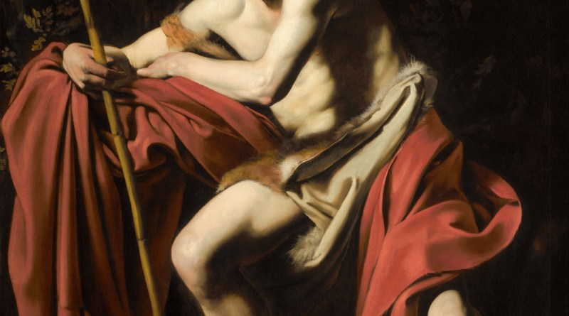 St. John the Baptist in the Wilderness, by Caravaggio, c. 1604-05. Nelson-Atkins Museum of Art, Kansas City, Missouri, United States. Via IllustratedPrayer.com