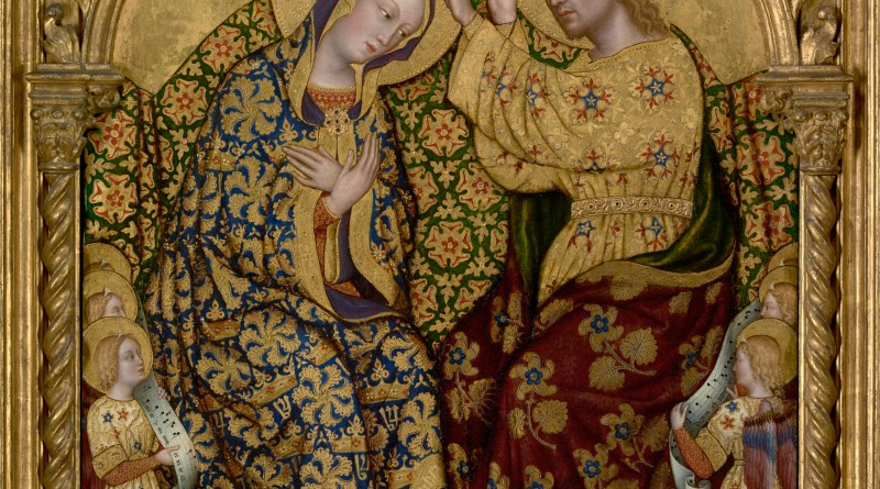 Coronation of the Virgin, by Gentile da Fabriano, c. 1420. J. Paul Getty Museum, Los Angeles, California, United States. Via IllustratedPrayer.com