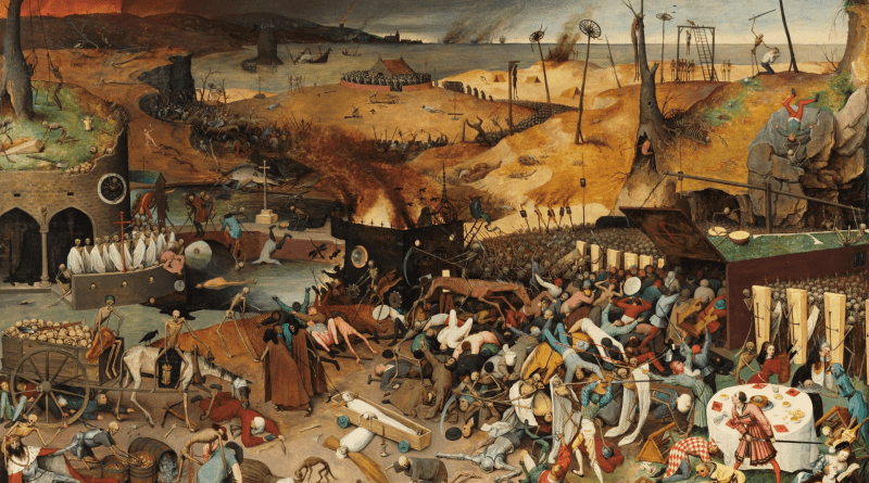 The Triumph of Death, by Pieter Brueghel the Elder, c. 1562-63. Museo del Prado, Madrid, Spain. Via IllustratedPrayer.com