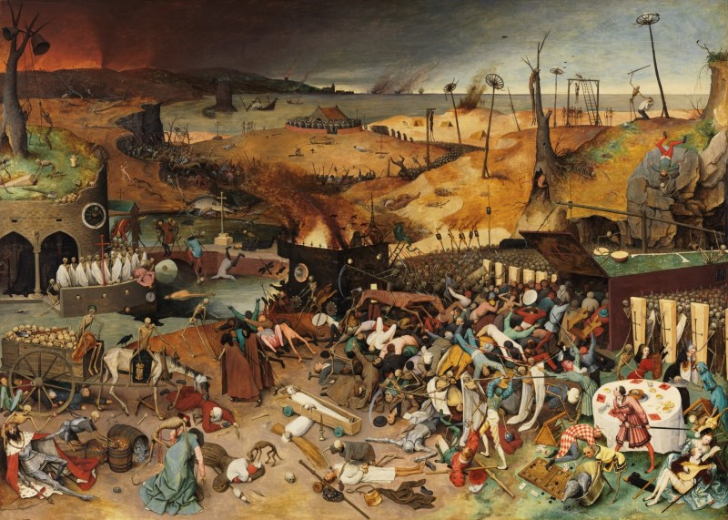 The Triumph of Death, by Pieter Brueghel the Elder, c. 1562-63. Museo del Prado, Madrid, Spain. Via IllustratedPrayer.com