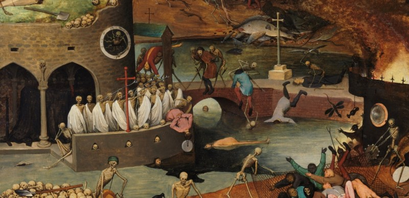 The Triumph of Death: Detail of the Millstone, by Pieter Brueghel the Elder, c. 1562-63. Museo del Prado, Madrid, Spain. Via IllustratedPrayer.com