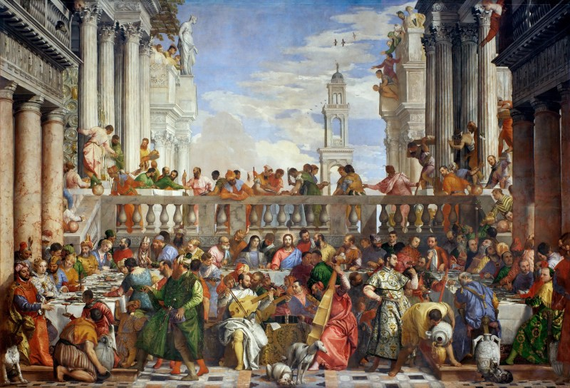 The Wedding at Cana, by Paolo Veronese, c. 1563. Louvre Museum, Paris, France. Via IllustratedPrayer.com