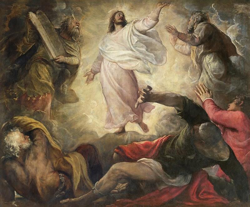 The Transfiguration of Christ, by Titian, c. 1560. San Salvador, Venice, Italy. Via IllustratedPrayer.com