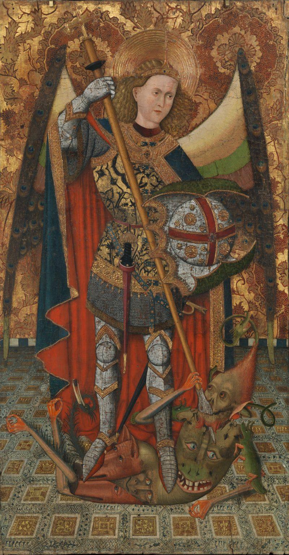 Saint Michael, by Master of Belmonte, c. 1450–1500. Metropolitan Museum of Art, New York, New York, United States. Via IllustratedPrayer.com