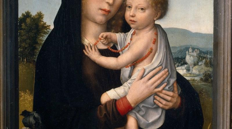 The Virgin with Child, by Gerard David, c. 1520. Museo del Prado, Madrid, Spain. Via IllustratedPrayer.com