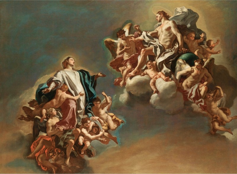 Ascension of the Virgin, by Francesco Solimena, c. 1730s. Private collection. Via IllustratedPrayer.com