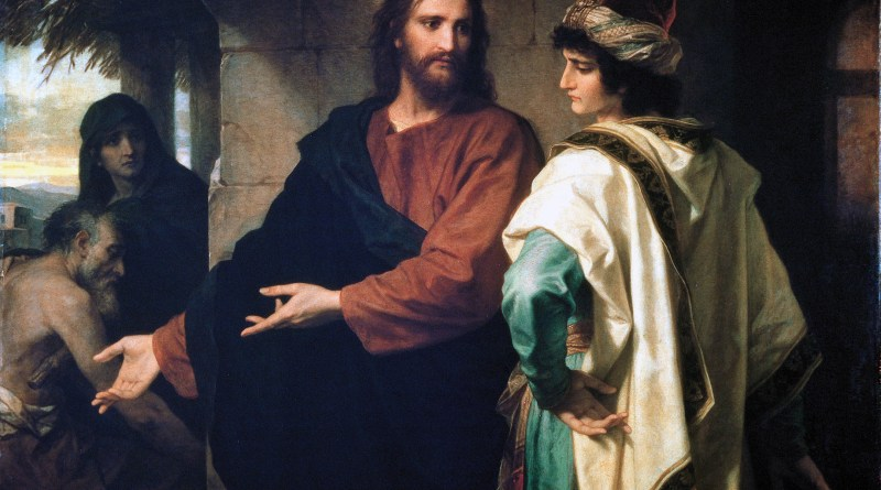 Christ and the Rich Young Ruler, by Heinrich Hofmann, c. 1889. Riverside Church, New York, New York, United States.