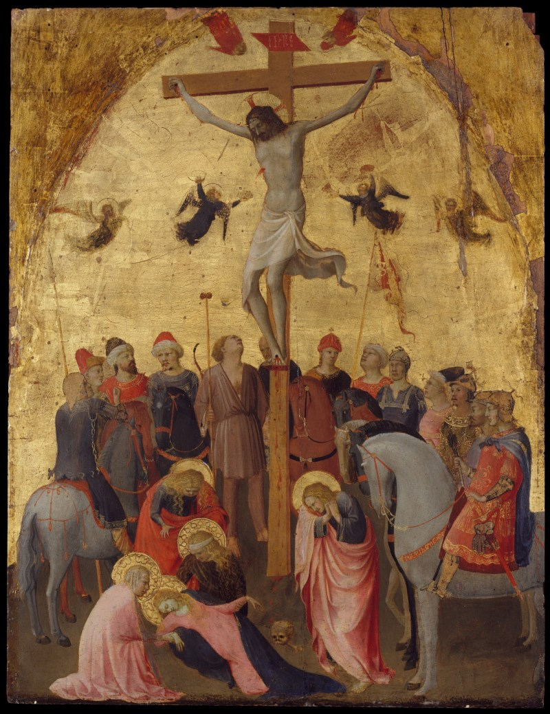 The Crucifixion, by Fra Angelico, c. 1420-23. Metropolitan Museum of Art, New York, New York, United States. Via IllustratedPrayer.com