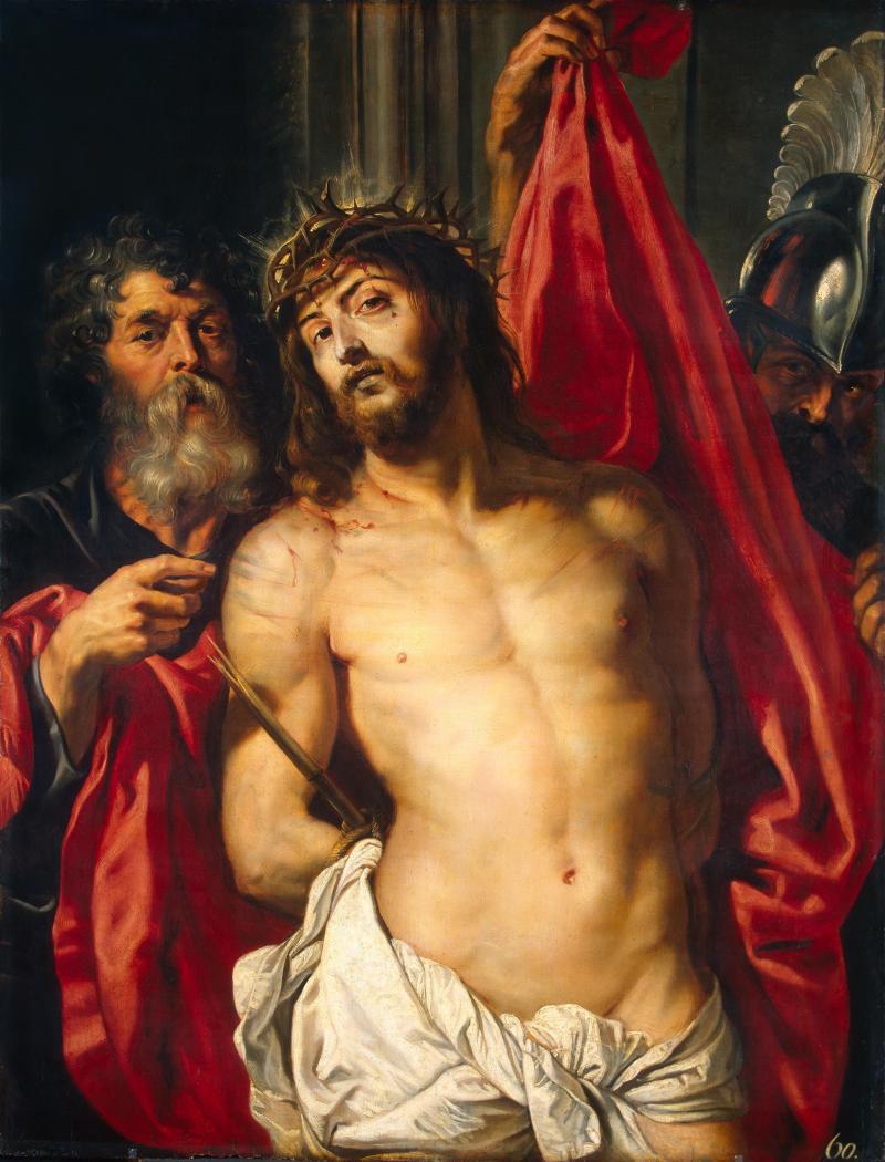 Ecce Homo, by Peter Paul Rubens, c. 1612. State Hermitage Museum, St. Petersburg, Russia. Via IllustratedPrayer.com